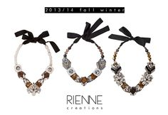 Rienne Creations custom jewelry 2013/14 crystal  statement necklace