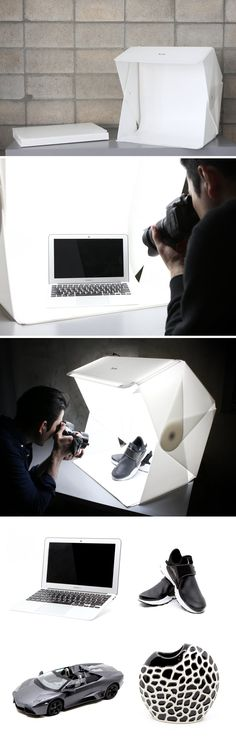 With the Foldio3 by Orangemonkie Studio, that tongue-tantalizing photograph is just literally a portfolio-case and 10 seconds away. Simply open Foldio3 out and assemble it using the magnetic locks and you have yourself a studio-grade light box for your product photography. On the top of the box are 3 LED strips too, negating the need for those massive bulky studio lights. Buy now!