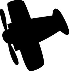 Airplane silhouette by spacefem - Outline of a propeller airplane