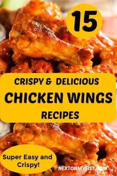 Chicken Wings are not only the ultimate game day food, but are a must at every appetizer party. Do you like tangy, spicy, sticky or crispy. Chicken Wing Marinade, Smoke Chicken Wings Recipe, Parmesan Chicken Wings, Smoked Chicken Wings, Crispy Chicken Wings, Chicken Wing Recipes, Baked Chicken, Easy To Digest Foods, Appetizer Party
