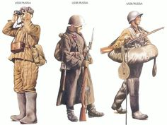 USSR/Russia - 1941 Dec., Moscow outskirts, Officer, Infantry Division USSR/Russia - 1941 July, Ukraine, Corporal, Infantry Division USSR/Russia - 1941 Oct., Leningrad, Trooper, Cavalry Regiment