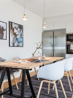 Scandi-style dining room