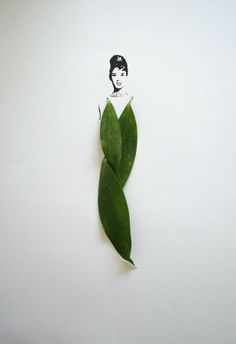 """Tang Chiew Ling's project """"Fashion in Leaves""""  via Textile Design and Designer`s Platform"""