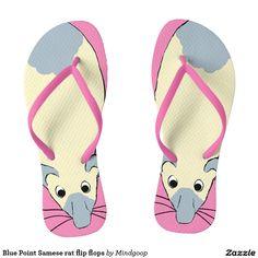 Blue Point Samese rat flip flops