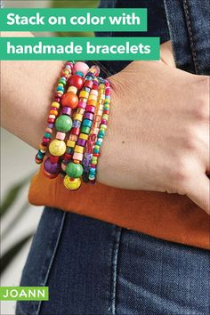 When it comes to making bracelets, the more the better! Have fun making them and stack away!