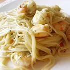 Shrimp lemon linguini