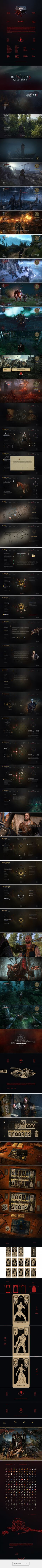 Witcher 3—UI & Gwint Redesigned on Behance - created via https://pinthemall.net
