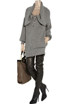I'm obsessed. Oversized wool-blend cardigan by Stella McCartney