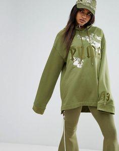 Puma X Fenty Graphic Embellished Hoodie - Green