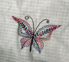 Embroidery patterns alphabet design Ideas for 2020 Hand Embroidery Projects, Hand Embroidery Videos, Hand Work Embroidery, Hand Embroidery Stitches, Crewel Embroidery, Peacock Embroidery Designs, Butterfly Embroidery, Fabric Paint Designs, Alphabet Design