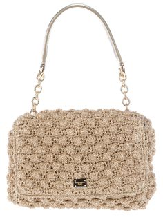 Dolce & Gabbana Crochet Metallic Shoulder Bag