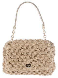 Dolce & Gabbana Crochet Metallic Shoulder Bag