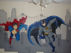 Children's bedroom wall mural - L's room if daddy has anything to say about decorating it!