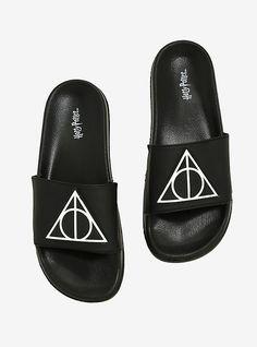 c272c19ef02f Harry Pottr Deathly Hallows Slide Sandals