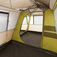 Ozark Trail x Instant Cabin Tent Camping Outdoors Family Sleeps 12 Person 3 Queen Airbeds and 3 Rooms - Brown Tent Camping Beds, Outdoor Camping, Camping Ideas, Camping Hacks, Camping Box, Jeep Camping, Camping Packing, Camping Gadgets, Camping Glamping