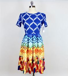 $  73.00 (37 Bids)End Date: May-16 17:39Bid now  |  Add to watch listBuy this on eBay (Category:Women's Clothing)... Check more at http://salesshoppinguk.com/2017/05/16/rare-lularoe-unicorn-amelia-dress-nwt-large-dipped-colorful-ombre-rainbow-new/