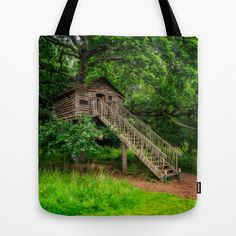 Treehouse Tote Bag  by Adrian Evans from $18.00