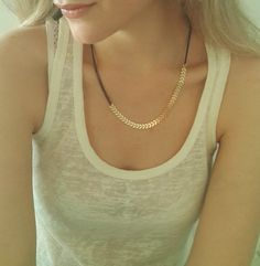 Chevron necklace, Gold and Black necklace, Arrows necklace, everyday necklace, V necklace, gift for her.  This gorgeous impressive necklace is made