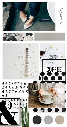 Blog design moodboard #moodboard #blog