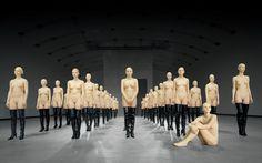 Vanessa Beecroft, vb45.9043.ali, 2001, performance at the Kunsthallie Wien, Vienna, image courtesy of Vanessa Beecroft