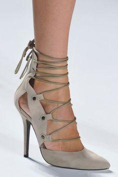 Marissa Webb Neige Neutral Lace-Up Sandal Spring 2014