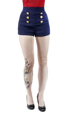 PINUP COUTURE NAVY SHORTS