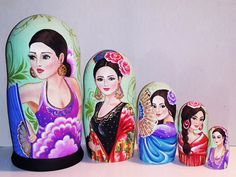 Country beauties -Spain Matryoshka www.matrioskas.es