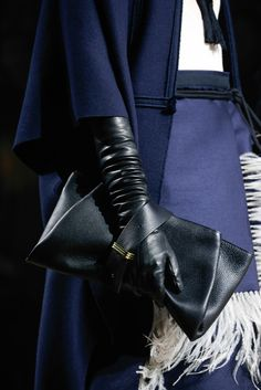 Lanvin Fall 2015 Ready-to-Wear. Leather upon leather