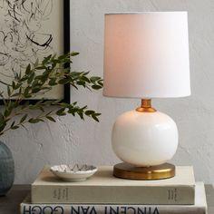 Bedside: Mini Abacus Table Lamp - Milk Finish