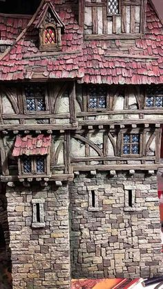 Tabletop, Hirst Arts, Fairy Tree Houses, Dungeons And Dragons Game, Warhammer Terrain, 3d Modelle, Medieval Houses, Building Concept, Storybook Cottage