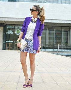 purple blazer with chic 2017 outfit