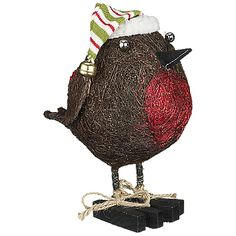Buy Big Decs Standing Christmas Robin, Medium online at JohnLewis.com - John Lewis