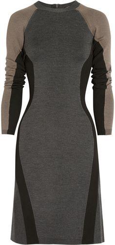❦Stella McCartney ❦Tough Cuts Paneled Stretch Knit Dress