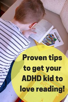 Get great ideas to get your ADHD kid to love reading. These tips are proven and come from a mother and reading teacher.