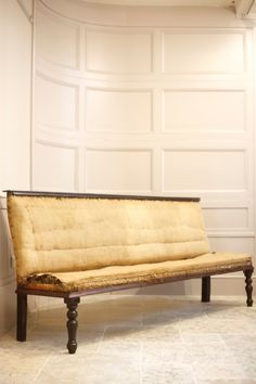 (On my website) If you would like this piece upholstered please select Yes in the dropdown menu. This would require 8 metres of material. Antiques Online, Selling Antiques, Hall Bench, Open Market, Fluffy Pillows, House Numbers, Household Items, 19th Century, Upholstery