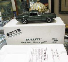 Danbury Mint 1968 Bullitt Ford Mustang GT 1:24 Diecast Car #mustang #diecast #ford #bullitt #mint #danbury