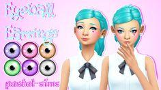 Eyeball Earrings at Pastel Sims via Sims 4 Updates