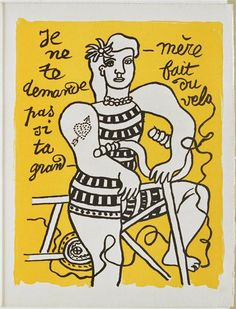 Fernand Léger (lithographie) Le cirque - 1950