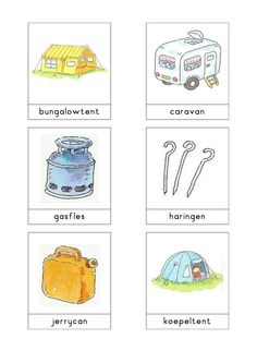 Woordkaarten Bas 'De camping' 1