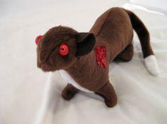 Zombie Weasel - Hand made undead custom plushie, Stuffed animal, http://www.etsy.com/shop/IckyDogCreations