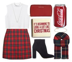 """christmas"" by donia98 ❤ liked on Polyvore featuring Michael Kors, Monki, Monique Péan, Gianvito Rossi, Sixtrees, Gorjana and Johnstons"