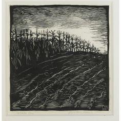 Wharton Esherick; woodcut Print