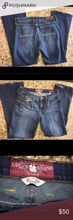 Women's Lucky Sophia  sz 8 / 29 Boot Cut jeans Great condition Lucky Brand Jeans Ankle & Cropped