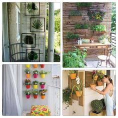 ideas for adding plants when you don't have a lot of square footage on your balcony