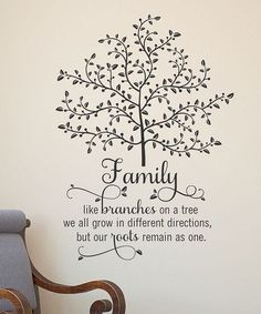 Family Tree, Wall Quotes Vinyl Decal, Large Family Tree, Family Wall Decal, Family Home Decor Family Tree Wall, Family Trees, Family Room, Belle Photo, Inspirational Quotes, Motivational Cards, Inspirational Wall Decals, Thoughts, Family Quotes And Sayings