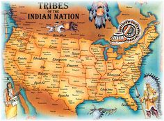 Like this Map for my kids, and it also has the Easy Native American Recipes that we were looking for. Two in one- score!