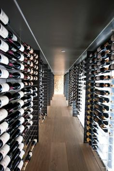 Beautiful wine cellar ... Seegir's wine cellar climatisation system would blend effortlessly into the design