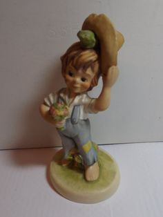 Goebel W. Germany Figurineboy with frog under hat 1976 by RetroBuy,