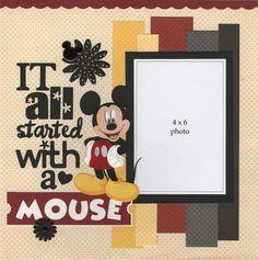 Disney Scrapbook Pages, Scrapbook Sketches, Scrapbook Page Layouts, Travel Scrapbook, Scrapbook Paper Crafts, Scrapbook Albums, Scrapbook Cards, Disney Diy, Disney Crafts