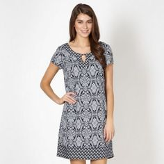 The Collection Navy baroque tiled shift dress- at Debenhams.com